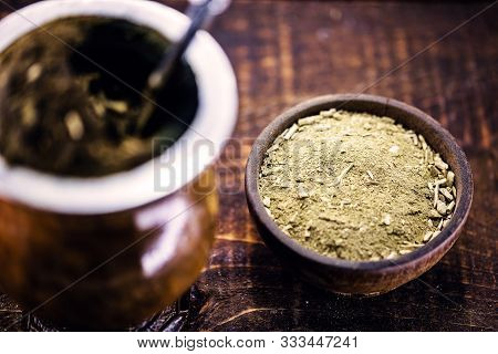 Yerba Mate For Mate Or Tereré. Main Ingredient Of Chimarrão, A Typical South American Drink.