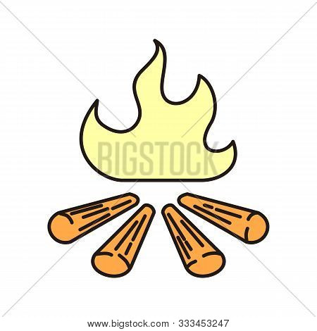 Campfire Icon Isolated On White Background From Camping Collection. Campfire Icon Trendy And Modern