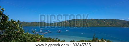 A Beautiful View In Mandeh Hill In West Sumatra Of Indonesia.