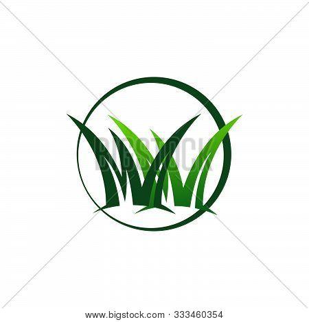 Grass Remover Lawn Mower Logo Design Template Vector Illustration
