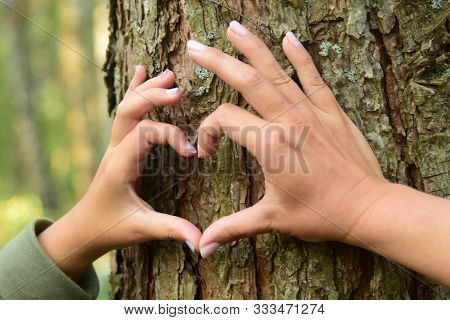 Hands Mother And Daughter Forming A Heart