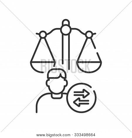 Child Custody Line Black Icon. Judiciary Concept. Separation Agreement, Adoption. Family Law.