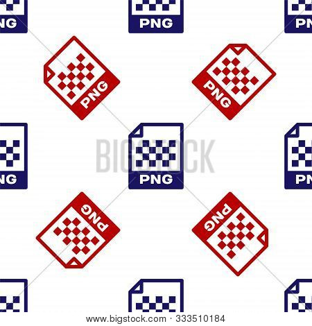 Blue And Red Png File Document. Download Png Button Icon Isolated Seamless Pattern On White Backgrou