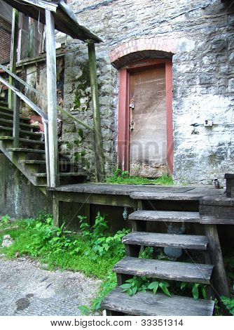 Old Stairway and Door