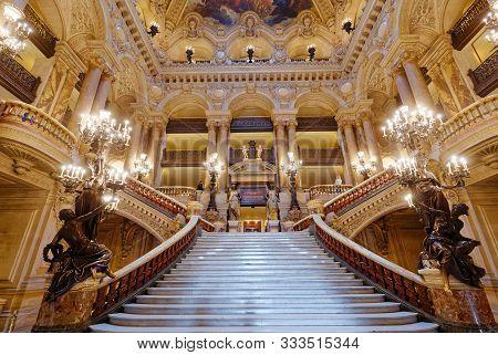 The Palais Garnier, Opera Of Paris, Big Staircase