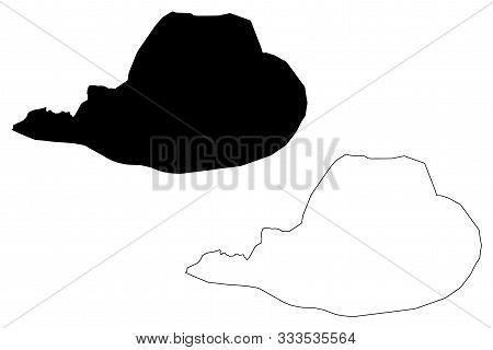 Bosnian-podrinje Canton (bih, Federation Of Bosnia And Herzegovina, Fbih) Map Vector Illustration, S