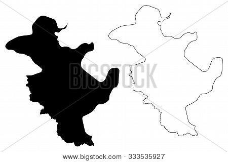 Tuzla Canton (bih, Federation Of Bosnia And Herzegovina, Fbih) Map Vector Illustration, Scribble Ske