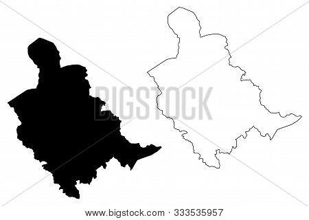 Zenica-doboj Canton (bih, Federation Of Bosnia And Herzegovina, Fbih) Map Vector Illustration, Scrib