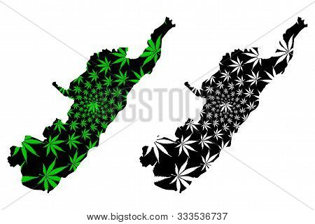 Huila Department (colombia, Republic Of Colombia, Departments Of Colombia) Map Is Designed Cannabis