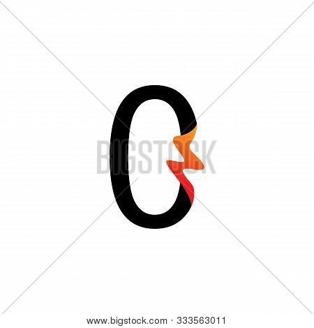 Number 0 Logo Or Symbol Template Design Creative