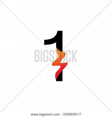 Number 1  Logo Or Symbol Template Design Creative