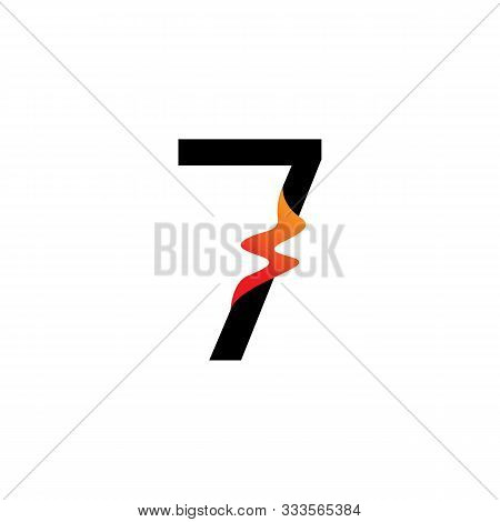 Number 7  Logo Or Symbol Template Design Creative