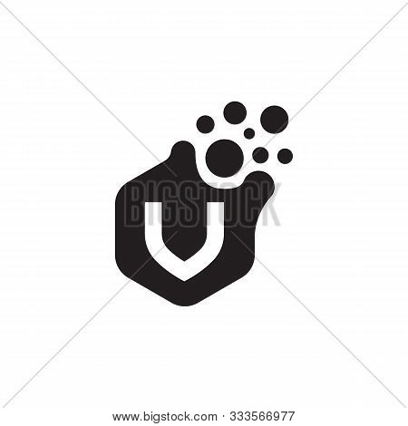 Letter V Dots Logo Vector. V Letter Logo Design With Black. V Logo Vector, Icon Design, Digital Icon