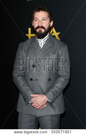 LOS ANGELES - NOV 3:  Shia LaBeouf at the Hollywood Film Awards at the Beverly Hilton Hotel on November 3, 2019 in Beverly Hills, CA