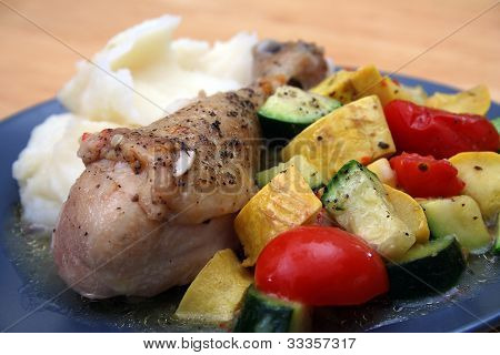 Braised Mediterannean Chicken