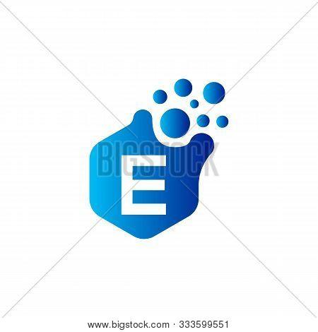 E Dots Letter Logo Design. Letter E Logo Design With Hexagon. E Logo Vector, Icon Design, Digital Ic