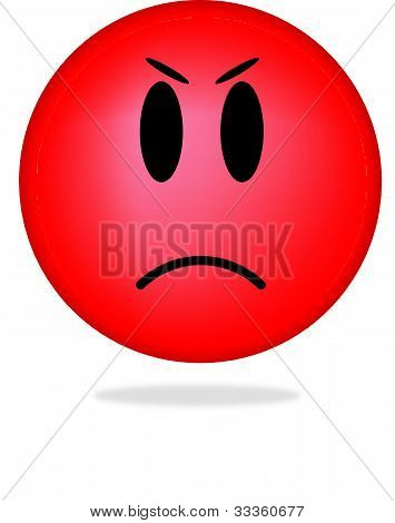 Angry emoticon face