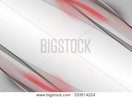 Abstract White, Black And And Red Background Waves. Bright Abstract Background.
