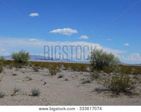Beautiful Desert Landscape Of The Parker, California Wilderness.