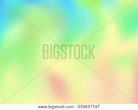 Neon Holographic Paper Fluid Gradient Backdrop. Lucent Pastel Rainbow Unicorn Background. Liquid Col