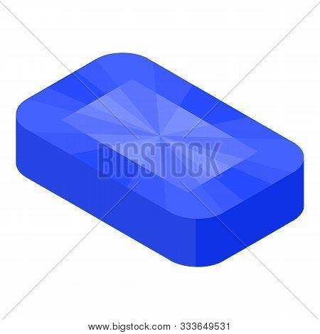 Topaz Gemstone Icon. Isometric Of Topaz Gemstone Vector Icon For Web Design Isolated On White Backgr