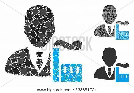 Capitalist Oligarch Mosaic Of Humpy Elements In Various Sizes And Color Tints, Based On Capitalist O