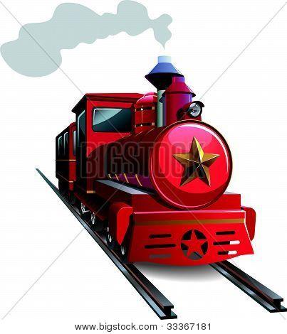Red locomotive