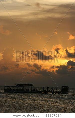 sunset at beach l