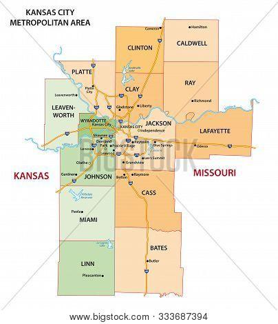 Map Of The Kansas City Metropolitan Area In Kansas And Missouri