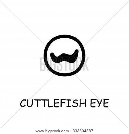 Cuttlefish Eye Flat Vector Icon. Hand Drawn Style Design Illustrations.