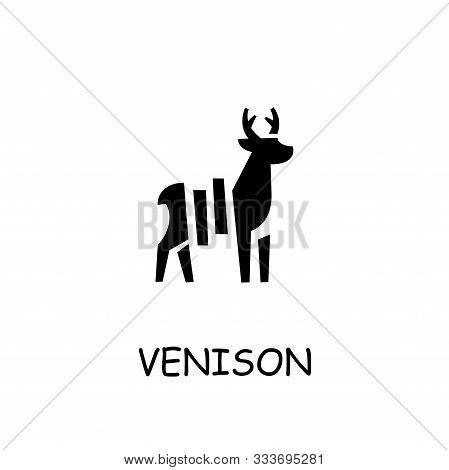 Venison Meat Flat Vector Icon. Hand Drawn Style Design Illustrations.