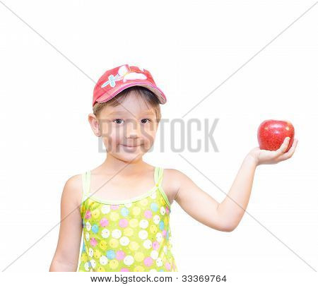 The Child And Apple