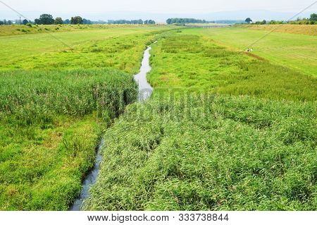 Small River In Otmuchow As Nice Poland Landscape