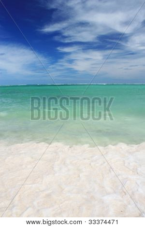Waves on the tropical beach