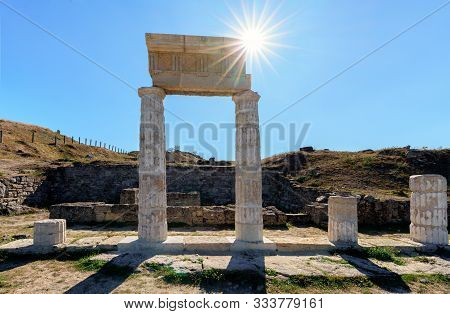Kerch, Russia - October 9, 2019: Ruins Of Antique Greek State City Panticapaeum On Mithridates Hill