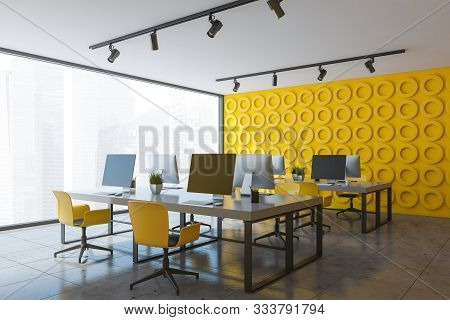Yellow Open Space Office Corner