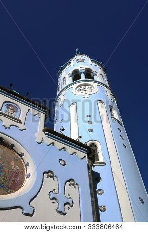 The Hungarian Secessionist Catholic Cathedral Or The Blue Church In The Old Town In Bratislava, Slov