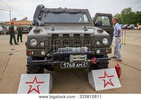 Sambek, Rostov Region, Russia, June 28, 2019: International Military Technical Forum Army-2019. Spec