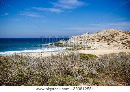 Wild Beach Of Cabo San Lucas In Baja California, Mexico, 2019