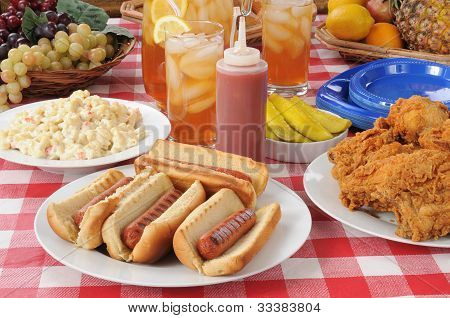 Picnic Lunch Hot Dogs