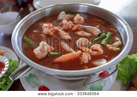Shimp Tom Yum Soup , Spicy Thai Food And Delicious