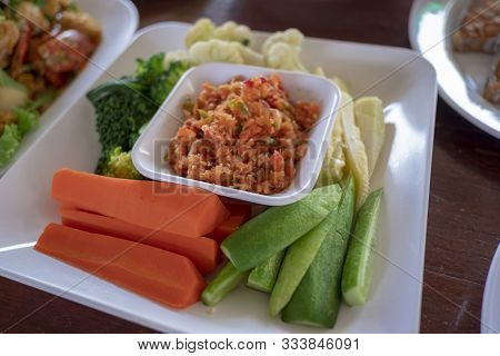 Shrimp Paste , Spicy Thai Food And Delicious