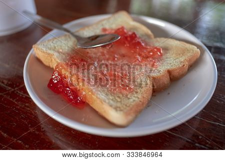 Bread And Jam , Breakfast Is Good For Health