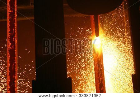 Continuous Casting Plant On Large Integrated Steelworks.