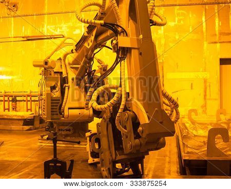 Chernobyl, Ukraine - October 16, 2015: Industrial Equipment At Chernobyl Nuclear Power Plant. Nuclea