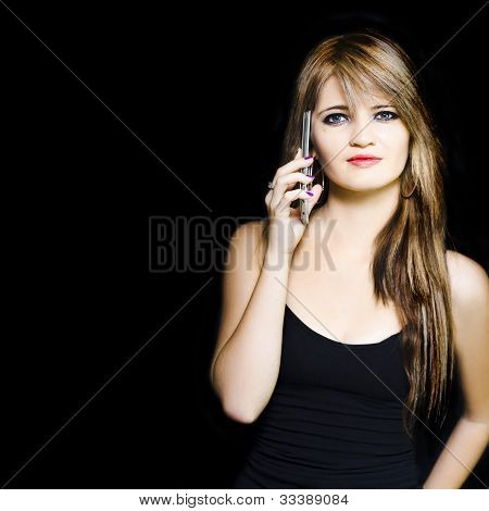 Attractive Young Business Woman Using Mobile Phone