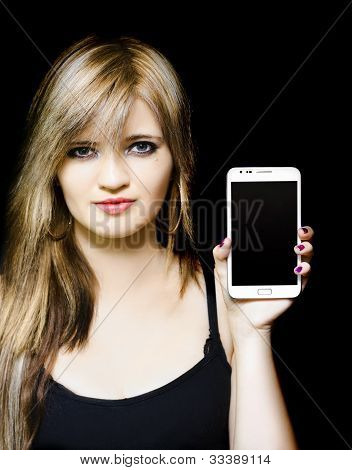 Female Business Person Working With Smartphone