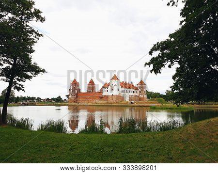 Mir, Belarus - June 13, 2018: Mir Castle Complex In Belarus, Unesco World Heritage