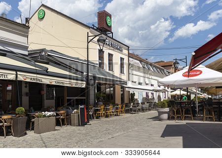 Nis, Serbia - June 15, 2019: Tinkers Alley  Known As Coppersmith Alley (kazandzijsko Sokace) At The