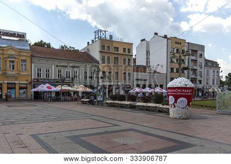 Nis, Serbia - June 15, 2019: Panorama Of The Center Of City Of Nis, Serbia